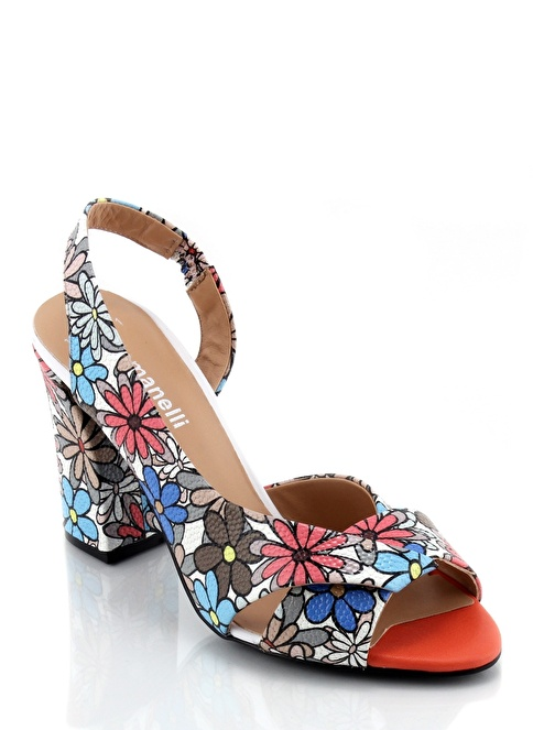 Poletto Kalın Topuklu Sandalet Renkli